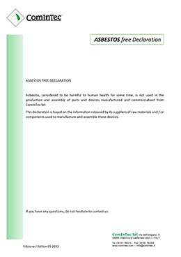 Quality and certificate - ComInTec srl